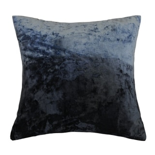 AM Home Ombre Viscose Velvet Pillow , Feather Insert (blue wing teal)