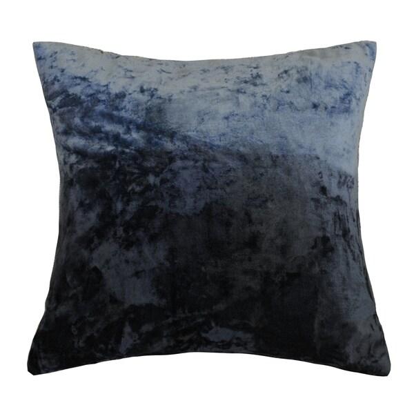 AM Home Ombre Viscose Velvet Pillow , Feather Insert