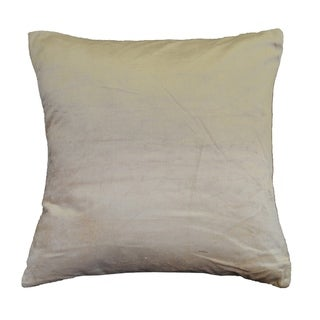 AM Home Ombre Viscose Velvet Pillow , Feather Insert (Ivory)