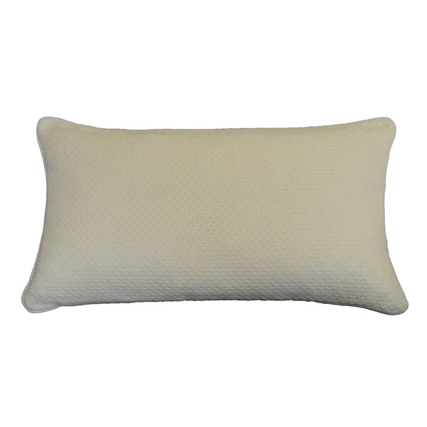 AM Home Diamond Stitch Pillow With Piping, Feather Insert