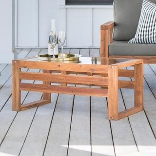 Hudson Acacia Outdoor Coffee Table - 36 x 20 x 16h