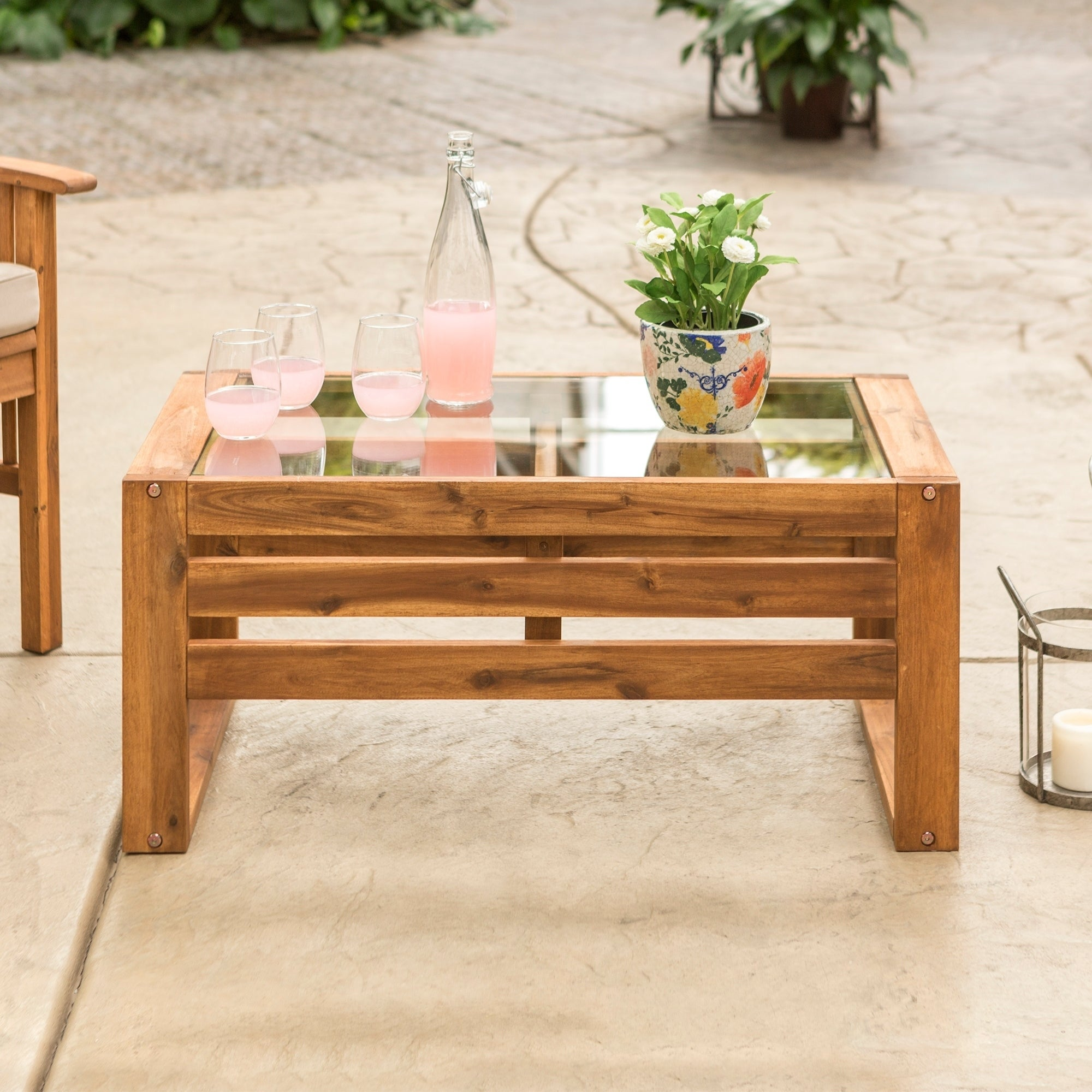 Details About Hudson Acacia Outdoor Coffee Table 36 X 20 16h Brown