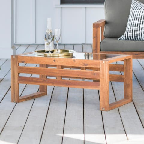 Hudson Acacia Outdoor Coffee Table - 36 x 20 x 16h