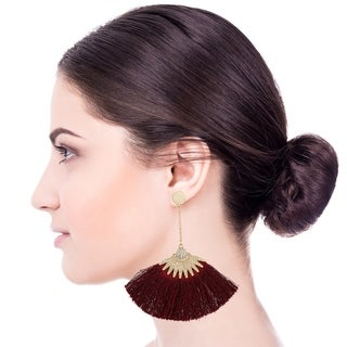 Handmade Saachi Boho Fringe Earring (China) - RED