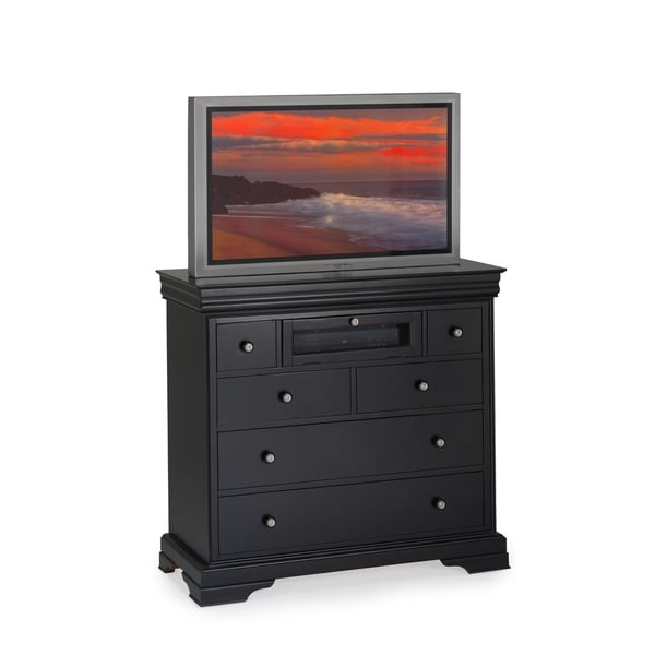 Belle Rose Black Cherry 6-drawer TV Console