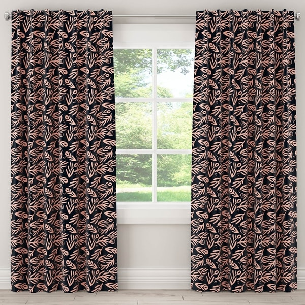 Skyline Blackout Curtain in Bold Floral Navy Pink
