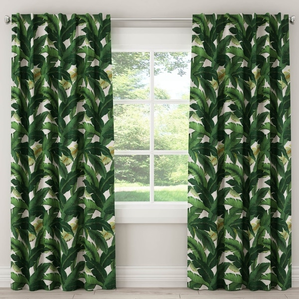 Skyline Unlined Curtain in Swaying Palm Aloe