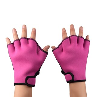 Swimming Training Gloves - 1 Pair (Option: Pink)