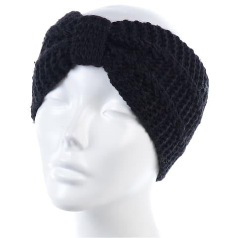 BYOS Womens Winter Fashion Cute Bowknot Crochet Knit Headband Hairband Ear Warmer