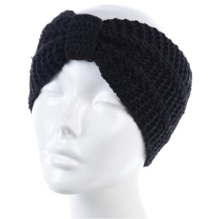 BYOS Womens Winter Fashion Cute Bowknot Crochet Knit Headband Hairband Ear Warmer