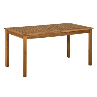 Acacia Wood Patio Simple Dining Table