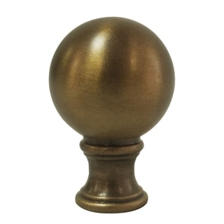Royal Designs Small Ball Lamp Finial for Lamp Shade- Antique Brass