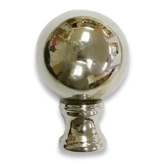 Royal Designs Large Ball Lamp Finial for Lamp Shade- Polished Silver