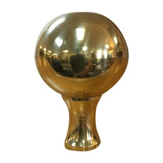 Royal Designs Large Ball Lamp Finial for Lamp Shade- Polished Brass