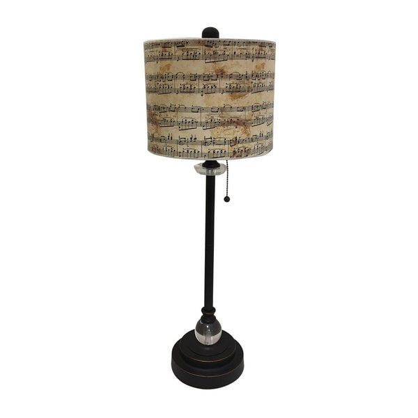 Shop Royal Designs Oil Rub Bronze Lamp With Musical Notes