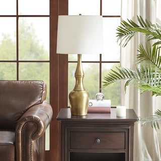 Harbor House Veronica Gold Table Lamp with Cone Shaped White Shade