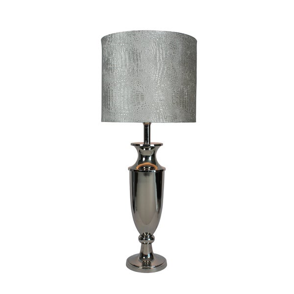 Urban Designs Liza 34-Inch Trophy Nickel Table Lamp
