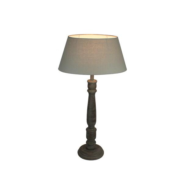 Urban Designs 29-Inch Greywash Solid Wood Candlestick Buffet Lamp