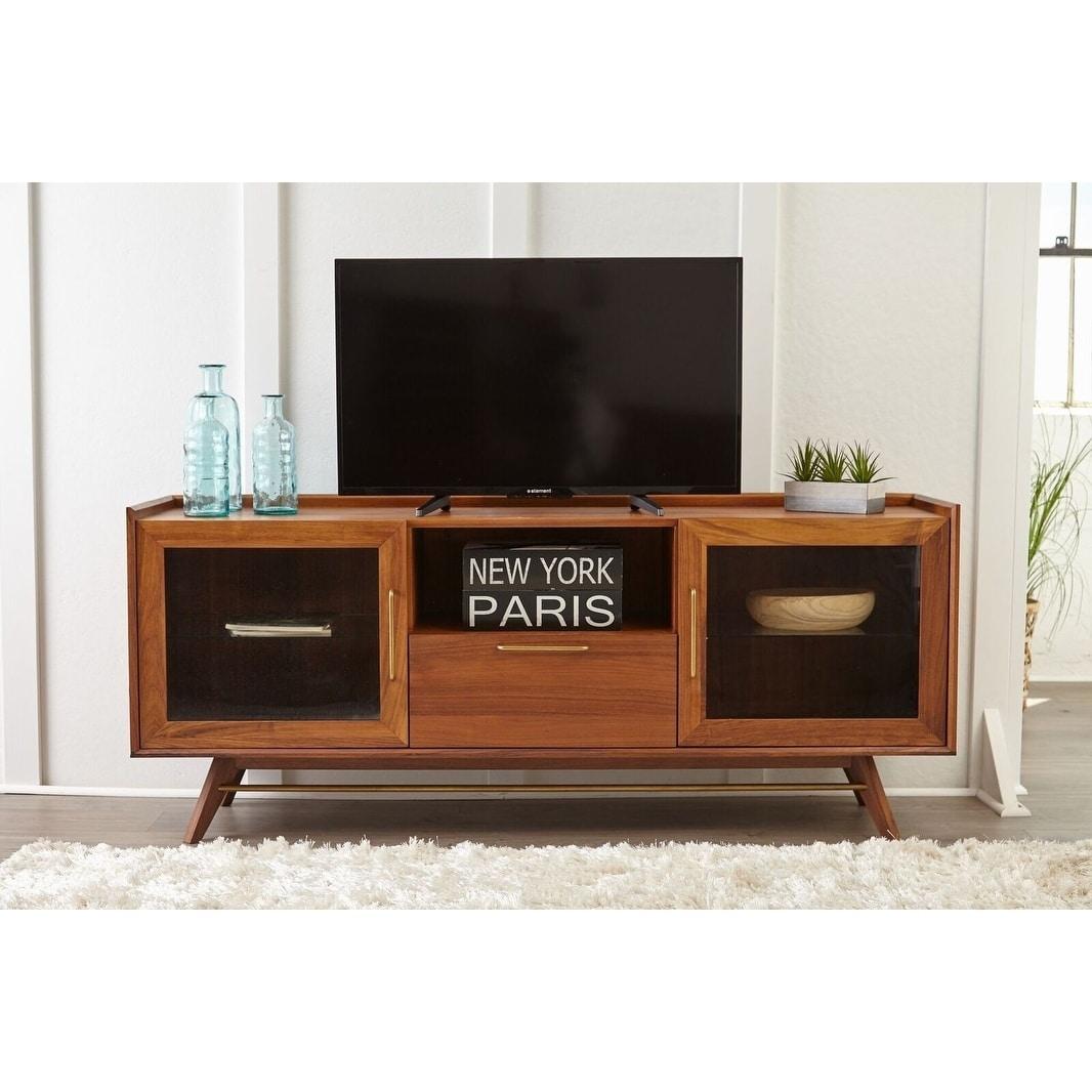 Waldorf Walnut Mid Century Modern Media Tv Cabinet