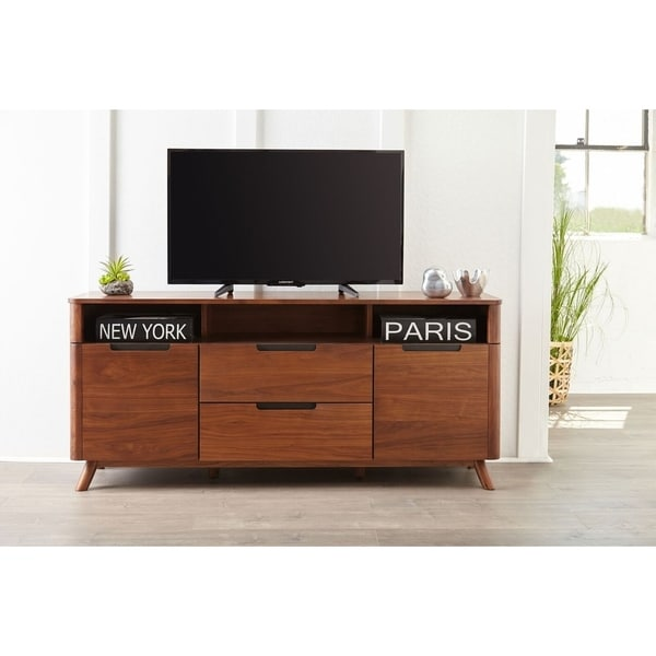 Kirkwood American Walnut Modern Media Tv Cabinet