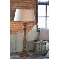 Urban Designs Bellini 36-inch Handcrafted Wood and Empire White Linen Floor Lamp