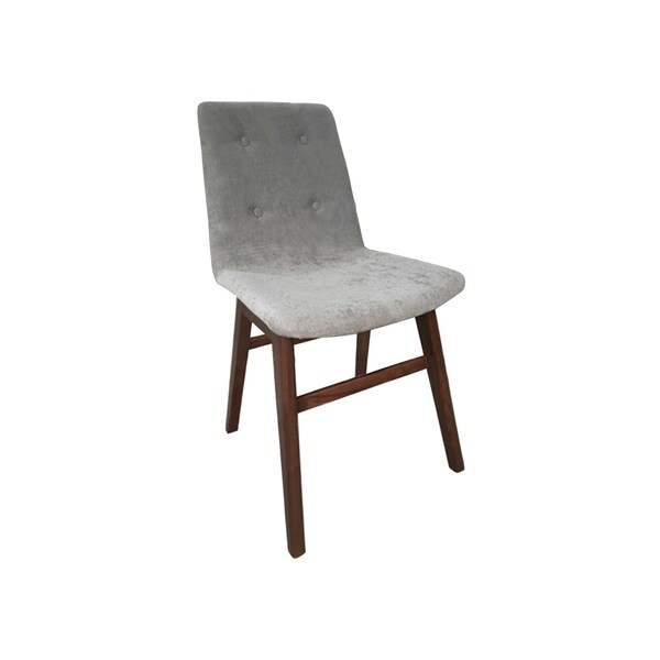 Waldorf Grey and Walnut Sleek Modern Dining Chair (Set of 2)