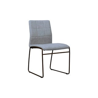Wales Grey Modern Eco-leather Dining Chair (Set of 2)