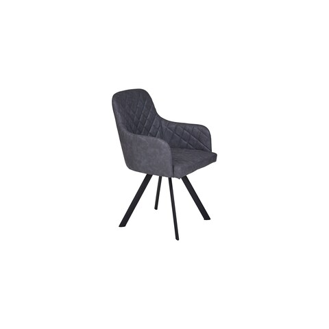 Romania Grey Modern Eco-Leather Dining Chair (Set of 2)