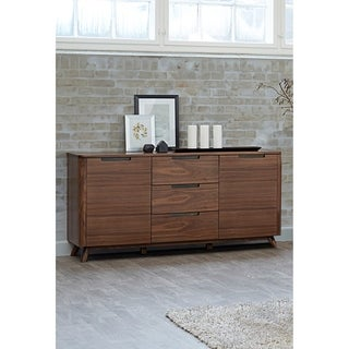 Kirkwood American Walnut Mid-century 3-section Sideboard
