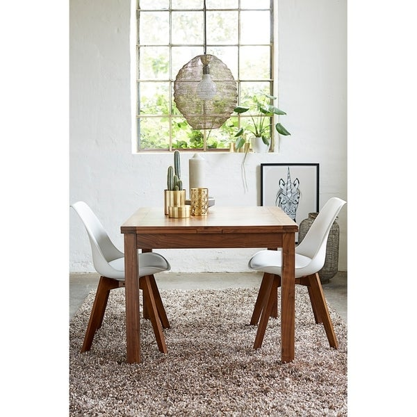 Walnut Modern Square Extendable Dining Table - Free Shipping Today ...