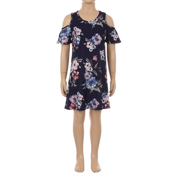 Children's Floral Pattern Short Dress
