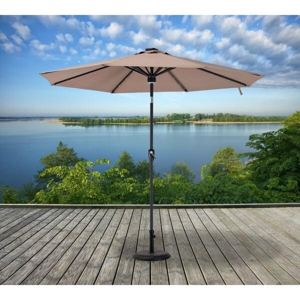 Sunjoy 9 ft. Umbrella with LED lights and Audio Equipment