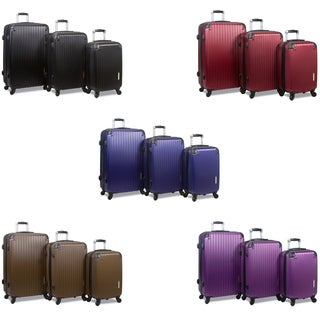 World Traveler Rolite 3-Piece Hardside Spinner Combination Lock Luggage Set (5 options available)