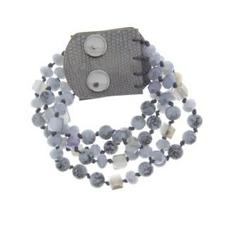 Handmade Saachi Natural Stone Strand Bracelet (China)