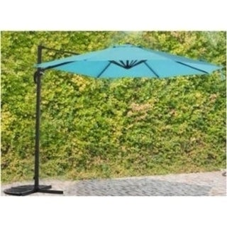 Hanging Umbrella Offset Outdoor Parasol w/lights