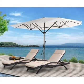 15' Triple Vent Market Umbrella with Base