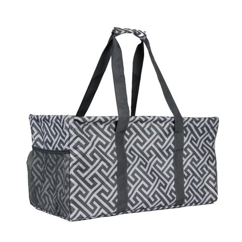 World Traveler Greek Key Household Essential Collapsable Multi-purpose Tote Bag