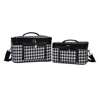 Link to World Traveler Houndstooth 2-Piece Train Cosmetic Case Set  Similar Items in Travel Accessories