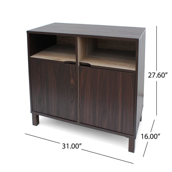 Nicholas 2-shelf Faux Wood Cabinet by Christopher Knight Home