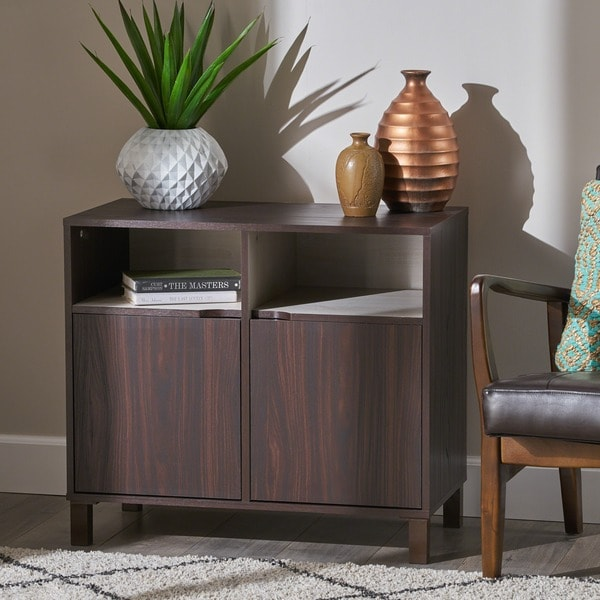 Nicholas 2-shelf Faux Wood Cabinet by Christopher Knight Home. Opens flyout.