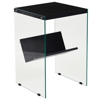End Table with Glass Frame