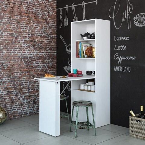 Boahaus Multipurpose Cabinet with Desk, White