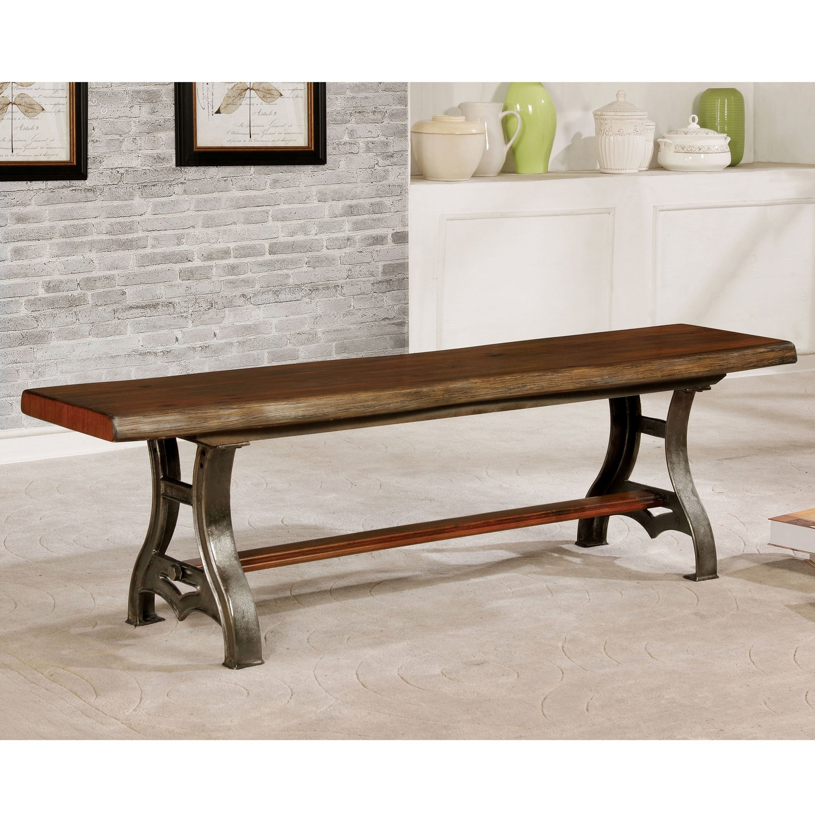 Pleasing The Gray Barn Maiden Castle Industrial Brown Cherry Dining Bench Uwap Interior Chair Design Uwaporg