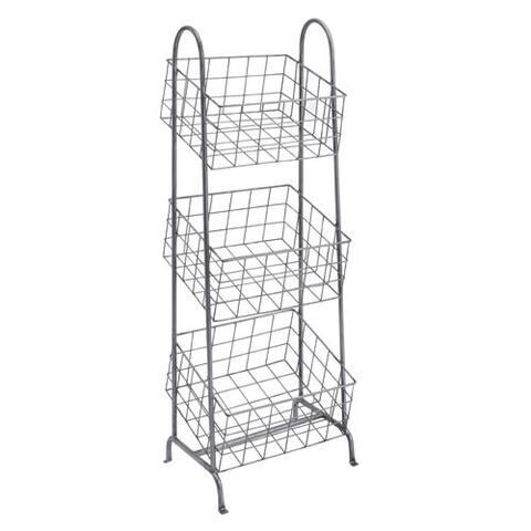 April Three Metal Basket Stand
