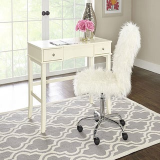 Clara Faux Fur Armless Office Chair