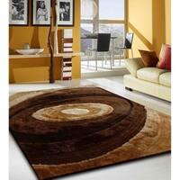 Handmade Multi Brown 1.5 Inch Pile Height Shaggy Area Rug - 4' x 5'4