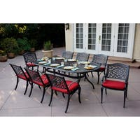 Plazzo 9 Piece Dining Set with Cushions - Antique Bronze