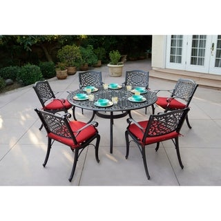 Plazzo 7 Piece Dining Set with Cushions