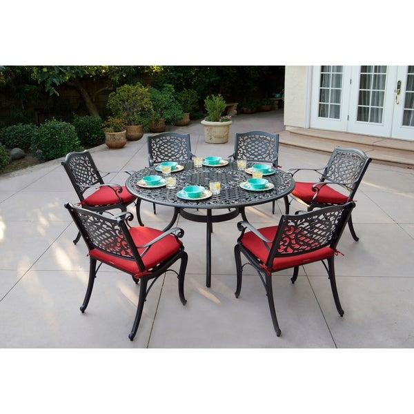 Plazzo 7 Piece Dining Set with Cushions - Antique Bronze