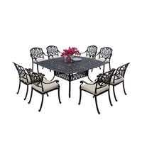 Sierra Madre Cast Aluminum 9 Piece Square Patio Dining Set - Antique Bronze